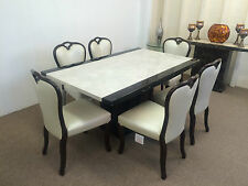 Marble Table and Six Dining Chairs**Stunning Looks** Unbeatable Prices* In Stock