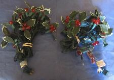 Vintage strings of Christmas Poinsettia Lights.