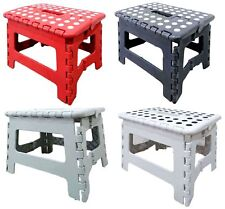 NEW Folding Stool Foot Step Ladder Plastic Footstool Stepladder Portable Chair
