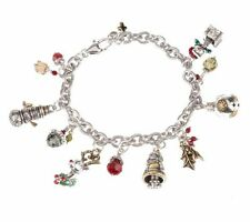 BRIGHTON CHRISTMAS STORY  CHARM BRACELET AND LEOPARD POUCH BRAND NEW WITH TAGS
