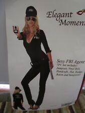 Womens Halloween Costume Sexy FBI Agent Jumpsuit Small Medium 8 10
