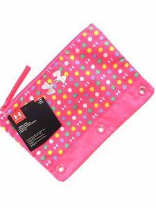 "UNDER ARMOUR Pencil Case -School Large 10"" x 7""  PINK  Craft Organizer NEW!!"