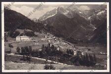 BRESCIA PONTE DI LEGNO 79 VAL CAMONICA Cartolina VIAGGIATA 1933 REAL PHOTO