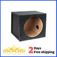 Car Audio Single 10 Inch Sub Box Rear Firing Subwoofer Sealed Enclosure Carpeted