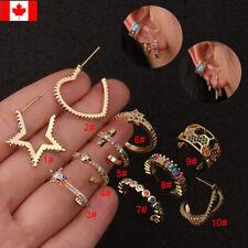 1PC Bohemia copper Tragus Cartilage Piercing Conch Lobe Half Hoop Stud earrings