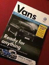 VOLKSWAGEN FURGONI Brochure listino prezzi luglio 2011-VW T5 Transporter Caddy Crafter