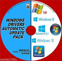 DRIVERS UPDATES PACK DVD WINDOWS XP VISTA 7 8 10 INSTALL/UPDATE/REPAIR PC/LAPTOP