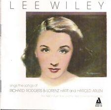 Lee Wiley - Sings the Songs of Richard Rodgers & Lorenz Hart and Harold Arlen CD