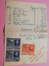 G102 FISCALI imposta plusvalore titoli azionari 1945 l10x2 e l. 50 MARCA BOLLO