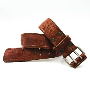 NORTH SAILS Brown 100% Leather Yachting Sailing Belt Medium Made in Italy