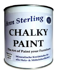 Ann Sterling Kreidefarbe Weiß Shabby Chic Möbellack 17,90€/Kg Möbel Farbe Lack