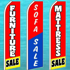 (12) FLUTTER FLAGS!!! MATTRESS, FURNITURE, SOFA SALE Feather Swooper Bow Banner