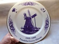 VINTAGE COLLECTOR PLATE FRANKLIN GROVE ILLINOIS 150TH ANNIVERSARY 1835-1985