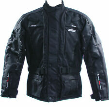 4040 FIGO Motorbike motorcycle textile jacket in black waterproof windproof
