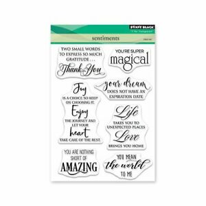 """Penny Black Clear Stamps - Sentiments 5""""X6.5"""""""