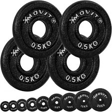 MOVIT Hantelscheiben Set PRO, Gusseisen, 0,5kg - 20kg, Gewichte Gewichtsscheiben