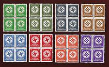 8 Nazi Germany Third 3rd Reich WW2 swastika postage stamp blocks MNH **