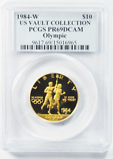 1984 W Olympics $10 Ten Dollar Gold Commemorative PCGS PR69DCAM Vault Collection