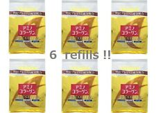 6-refills! Meiji PREMIUM Amino Collagen powder 214g(30day) x 6packs, from Japan