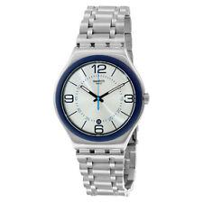 Swatch Round Stainless Steel Case Unisex Wristwatches