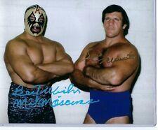 Mil Mascaras  Bruno Sammartino  signed  8x10 Wrestling photo w/COA