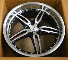 MOTEC ALUFELGE black polished/steel 9.5x19 zoll / ET25 5x100 / 57.1