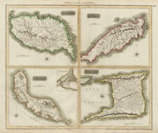 Grenada, Tobago, Trinidad & Curaçao. West Indies Caribbean. THOMSON 1817 map