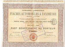 Fiacres Automobiles a Taximetre  1907  Paris
