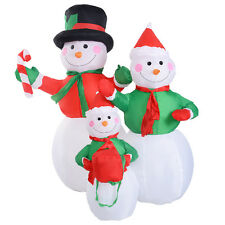 4Ft Airblown Inflatable Christmas Snowman Family Decor Lighted Lawn Yard Outdoor