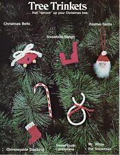 Macrame Christmas Magic Christmas Tree Ornaments Patterns Vtg Craft Book #7269