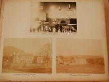 LATE VICTORIAN PHOTOGRAPHS on album page 33 x 26 cm PUBLIC SCHOOL Sedbergh  A