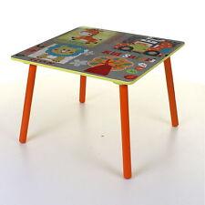 KIDS WOODEN TABLE & CHAIR SET CHILDRENS BEDROOM PLAYROOM FURNITURE JUNGLE DESIGN