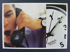 Swatch Mens Watch Swiss Color Promotional Promo Advertising Postcard 1997