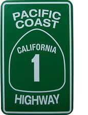 "TIN SIGN ""Pacific Coast Hwy "" Deco  Garage Wall Decor"