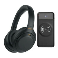 Sony WH-1000XM4 Wireless Noise Canceling Over-Ear Headphones (Black) Bundle