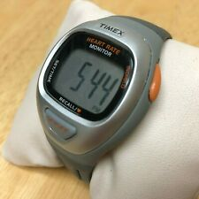 Unused Timex LCD Heart Rate Monitor Timer Watch Hour~Wrist Unit Only~New Battery