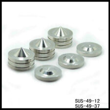 4Set Solid Steel 37-49mm High End Speaker Spike Feet Stand Cone Base PP029
