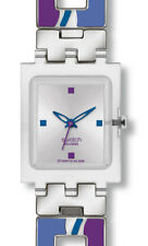 Swatch Damen-armbanduhr Hot Batik Purple SUBK147G
