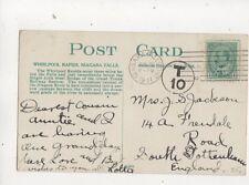 T10 Charge Mark Niagara Falls Canada 1911 to South Tottenham 434b