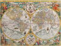PUZZLE 1500 PIEZAS Ravensburger 16381 MAPA DEL MUNDO 1594 - World Map Puzzle