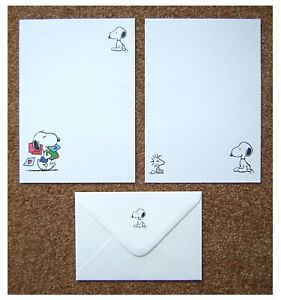 Snoopy Letter Writing Paper Stationery Set with Envelopes