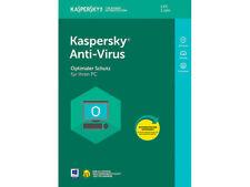 Kaspersky Antivirus Security 2018 3 PC 1 Jahre / Deutch /internet /auch für 2019