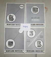 N°10874 / BERNARD-MOTEURS : prospectus et dépliant modéle W.9..B.30...de 1950