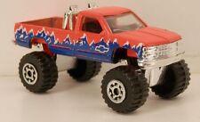 Matchbox 1989-1996 Chevrolet K1500 Pickup Truck 4x4 Neon Orange 1/70 Scale