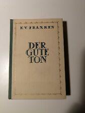K. V. Franken - DER GUTE TON 1938