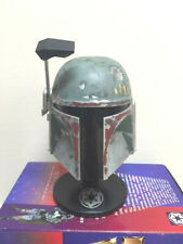 1997 Riddell Star Wars Boba Fett Mini Helmet - Still Sealed in Shelf Worn Box