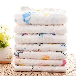 water absorb towel 30cm*50cm gauze cotton hand towel for baby multi-functions