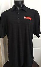Mens GREG NORMAN PlayDry Golf Shirt XL Black Yamaha Logo