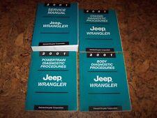2001 Jeep Wrangler Shop Service Repair Manual Set Se Sport Sahara 2.5L 4.0L