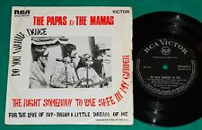 """The Papas & The Mamas The right somebody to love BRAZIL ONLY 4 Track 7"""" EP 1968"""